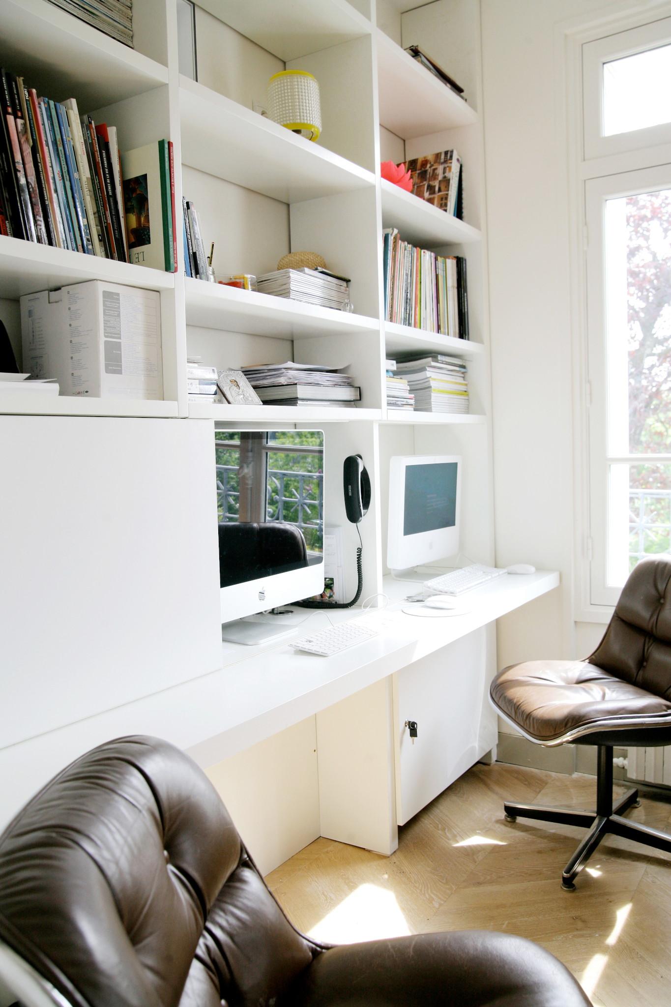 Nonjetable-Bibliothèque-Bureau-sur-Mesure-pour-un-Salon