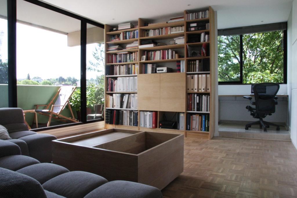 Nonjetable-Oak-Custom-Make-TV-Library