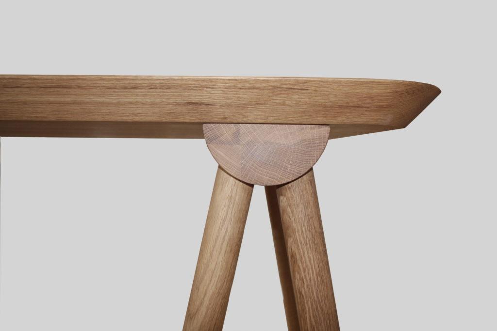 Nonjetable-Solid-Oak-Trestle-Desk
